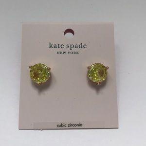🟢NEW Kate Spade Cubic Zirconia Mint earrings